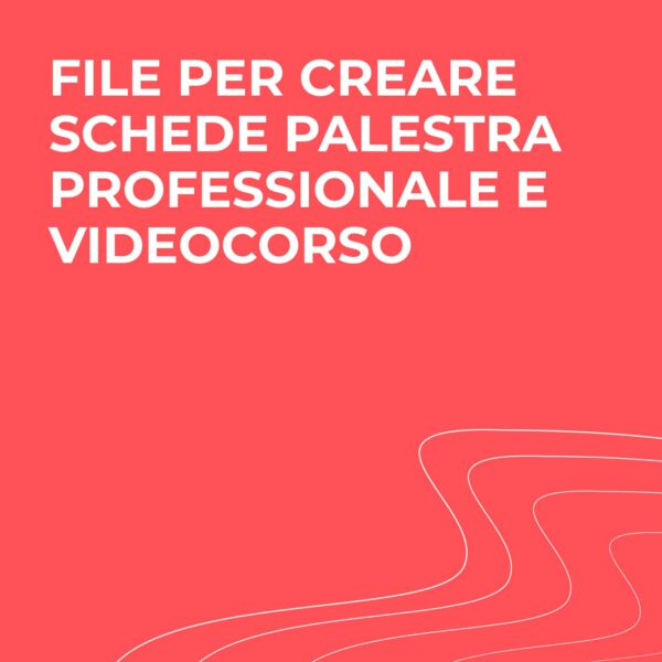 Videocorso creatore schede palestra professionale